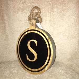 Wall hanging wooden Plaque  Letter S